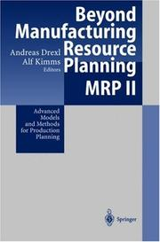 Cover of: Beyond Manufacturing Resource Planning (MRP II) |