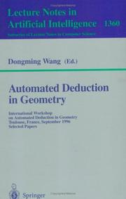 Cover of: Automated Deduction in Geometry | Dongming Wang
