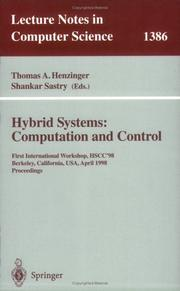 Cover of: Hybrid systems
