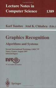 Cover of: Graphics recognition | International Workshop on Graphics Recognition (2nd 1997 Nancy, France)