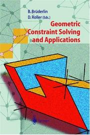 Cover of: Geometric constraint solving and applications |