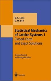 Cover of: Statistical mechanics of lattice systems