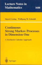 Cover of: Continuous strong Markov processes in dimension one