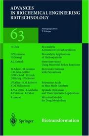 Cover of: Biotransformations (Advances in Biochemical Engineering/Biotechnology)