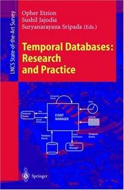 Cover of: Temporal databases |