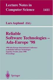 Cover of: Reliable Software Technologies - Ada-Europe