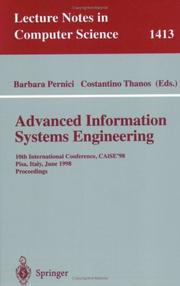 Cover of: Advanced Information Systems Engineering | C. Thanos