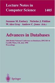 Cover of: Advances in databases |