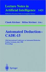 Cover of: Automated deduction, CADE-15 |