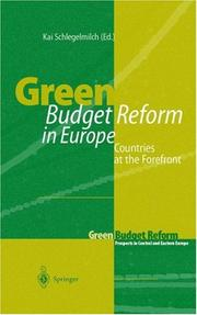Cover of: Green Budget Reform in Europe | Kai Schlegelmilch