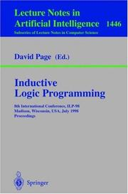 Cover of: Inductive Logic Programming