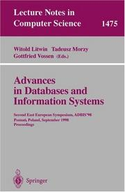 Cover of: Advances in databases and information systems |
