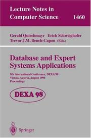 Cover of: Database and expert systems applications