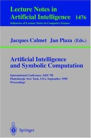 Cover of: Artificial intelligence and symbolic computation by