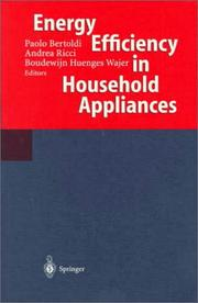 Cover of: Energy efficiency in household appliances