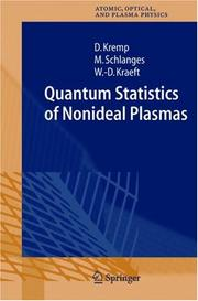 Cover of: Quantum Statistics of Nonideal Plasmas (Springer Series on Atomic, Optical, and Plasma Physics) | D. Kremp