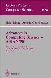 Cover of: Advances in computing science, ASIAN '98 by