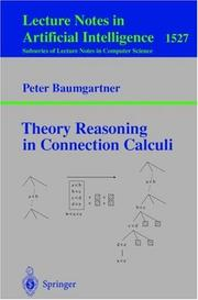 Cover of: Theory Reasoning in Connection Calculi