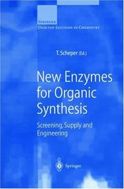 Cover of: New enzymes for organic synthesis |