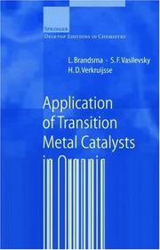 Cover of: Application of transition metal catalysts in organic synthesis