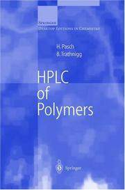 Cover of: HPLC of polymers