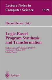 Cover of: Logic-Based Program Synthesis and Transformation