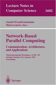Cover of: Network-based parallel computing