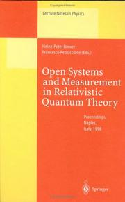 Cover of: Open systems and measurement in relativistic quantum theory |