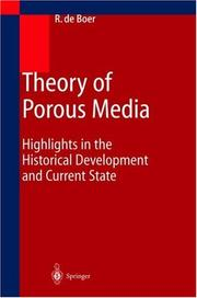 Cover of: Theory of porous media