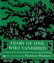 Cover of: Diary of One Who Vanished