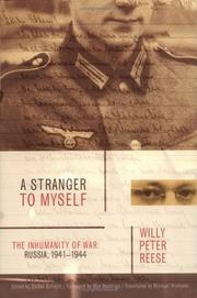 Cover of: A Stranger to Myself: The Inhumanity of War