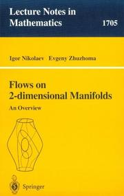 Cover of: Flows on 2-dimensional manifolds