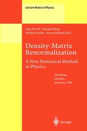 Cover of: Density-matrix renormalization |