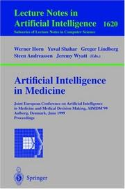 Cover of: Artificial Intelligence in Medicine |