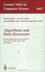 Cover of: Algorithms and Data Structures |
