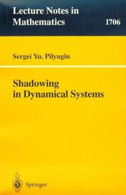 Cover of: Shadowing in dynamical systems
