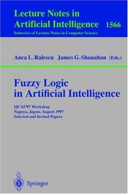 Cover of: Fuzzy logic in artificial intelligence