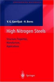 Cover of: High nitrogen steels