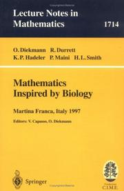Cover of: Mathematics Inspired by Biology | R. Durrett