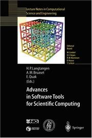 Cover of: Advances in software tools for scientific computing