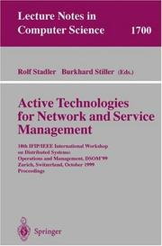 Cover of: Active technologies for network and service management |