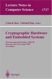 Cover of: Cryptographic hardware and embedded systems