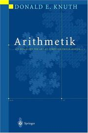 Cover of: Arithmetik