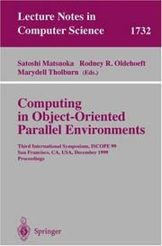 Cover of: Computing in Object-Oriented Parallel Environments |