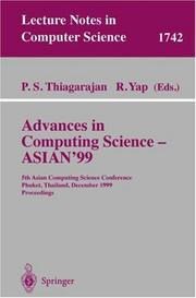 Cover of: Advances in computing science--ASIAN '99 |