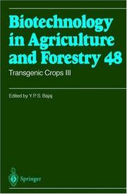 Cover of: Transgenic Crops III