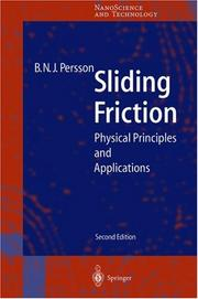 Sliding friction by B. N. J. Persson