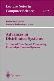 Cover of: Advances in distributed systems by