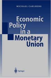 Cover of: Economic Policy in a Monetary Union