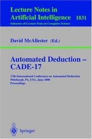 Cover of: Automated Deduction - CADE-17
